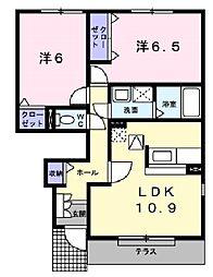 兵庫県神戸市垂水区下畑町字内入田の賃貸アパートの間取り