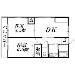 静岡県浜松市中区山手町の賃貸アパートの間取り