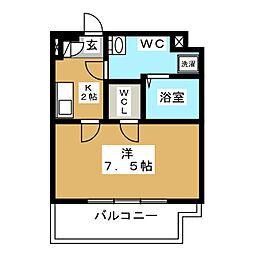 CREVISTA蒲田II 9階1Kの間取り