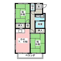 ワンカントリーマンション[1階]の間取り