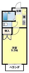 愛知県豊田市大林町13丁目の賃貸アパートの間取り