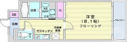 仙台市地下鉄東西線 川内駅 徒歩24分の賃貸マンション 6階1Kの間取り