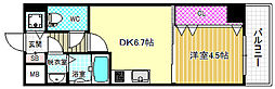 シャルマンフジ福島[4階]の間取り