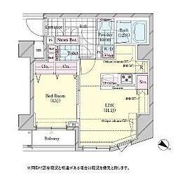 東京都品川区荏原2丁目の賃貸マンションの間取り