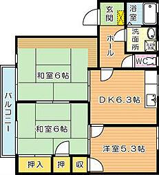プラゾオリジン A棟[2階]の間取り