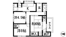 [一戸建] 兵庫県川西市南花屋敷4丁目 の賃貸【/】の間取り
