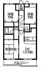 第3旭マンション[0203号室]の間取り
