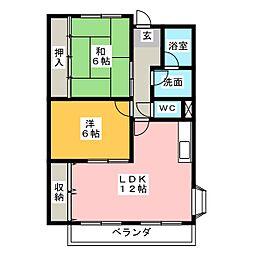 リンピア堀田[3階]の間取り