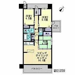 アルファライフ古京[5階]の間取り
