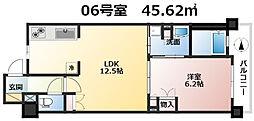 大阪府大阪市中央区備後町2丁目の賃貸マンションの間取り