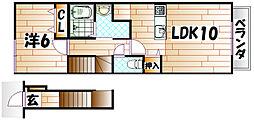 サンパティークVI[2階]の間取り
