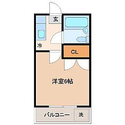 メゾンM10[3B号室]の間取り