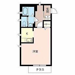 和歌山県和歌山市南中間町の賃貸アパートの間取り