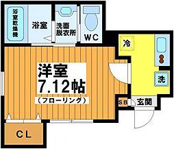 東京都杉並区方南1丁目の賃貸アパートの間取り