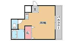 兵庫県神戸市中央区八雲通5丁目の賃貸マンションの間取り