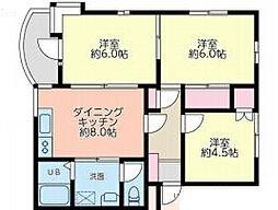 浄明寺ハイツ[102号室]の間取り