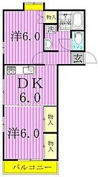 サンエルム亀甲台A[103号室]の間取り