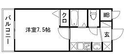 エステムコート博多・祇園ツインタワーセカンドステージ[15階]の間取り