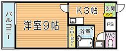 レオネクストサンライズ小熊野[301号室]の間取り