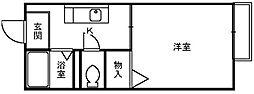 ドルチェ神明[1階]の間取り