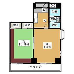 ヒルトップハウス[3階]の間取り