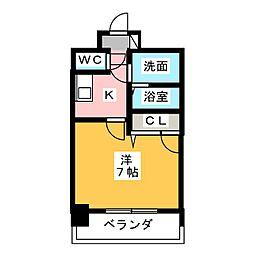エスリード大須観音プリモ 4階1Kの間取り