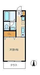 セレーサ[1階]の間取り