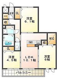 LaLa FUKUDA[2階]の間取り