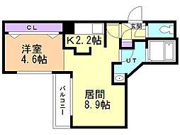 Moiwa view 2階1LDKの間取り