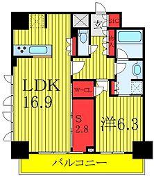 ラティエラ板橋 14階1SLDKの間取り