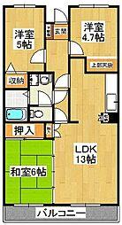 ブランシェ塚田[1階]の間取り
