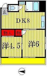松戸カネカビル[4階]の間取り