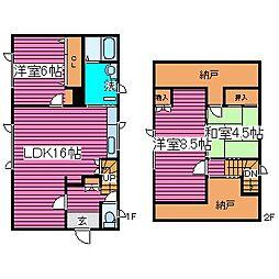 [一戸建] 北海道札幌市北区新琴似十条5丁目 の賃貸【/】の間取り