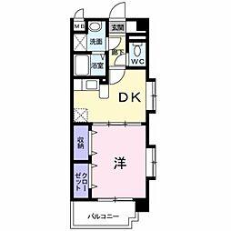 JR豊肥本線 東海学園前駅 徒歩31分の賃貸マンション 1階1DKの間取り
