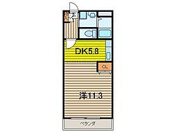 埼玉県さいたま市桜区道場2丁目の賃貸マンションの間取り