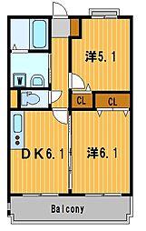 神奈川県横浜市港北区新吉田東8丁目の賃貸マンションの間取り