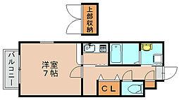 ジュネスハイム奥田A[1階]の間取り