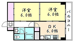 上六青山ハイツ[710号室]の間取り