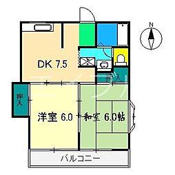 セジュール静 D棟[1階]の間取り