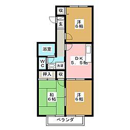 ボヌール荒井[2階]の間取り