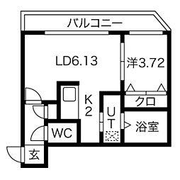 クラークサイドSAPPORO[2階]の間取り