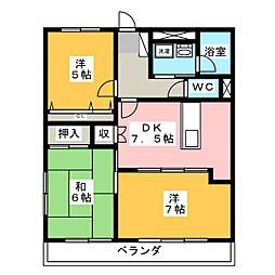 TNマンションI[1階]の間取り