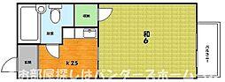 大阪府枚方市伊加賀西町の賃貸アパートの間取り