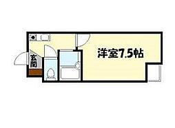 ジョリーフローラ[4階]の間取り