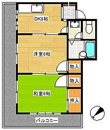 リトルハピネスナカムラ[4階]の間取り