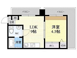 橋本ビル 4階1LDKの間取り