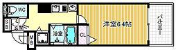 プレサンス梅田フロンティア[2階]の間取り