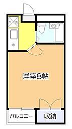 東京都東大和市南街5丁目の賃貸マンションの間取り