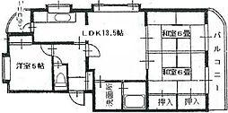 レジデンス白井[1階]の間取り