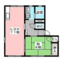 エールプラーナA[2階]の間取り